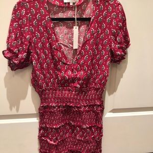 Olivaceous BNWT ruffled floral dress